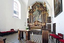 Altarraum der ehem. Kapuzinerklosterkirche