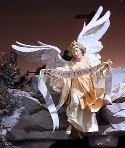 Engel über der Krippe