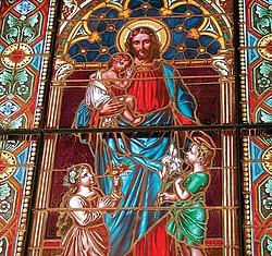 Fensterbild der Evangelische Kirche Bad  Buchau