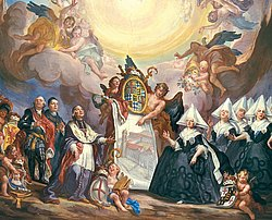 Deckengemälde St. Cornelius und Cyprianus